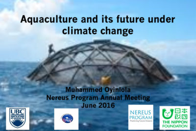 Aquaculture and its Future Under Climate Change